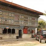 Bhoutan : Maisons traditionnelles dans le village de RANGJUNG