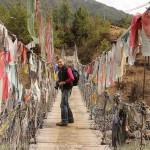 Pont suspendu sur la rivière Chamkhar Chu