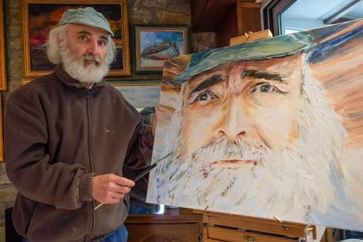 Autoportrait : Peinture en situation