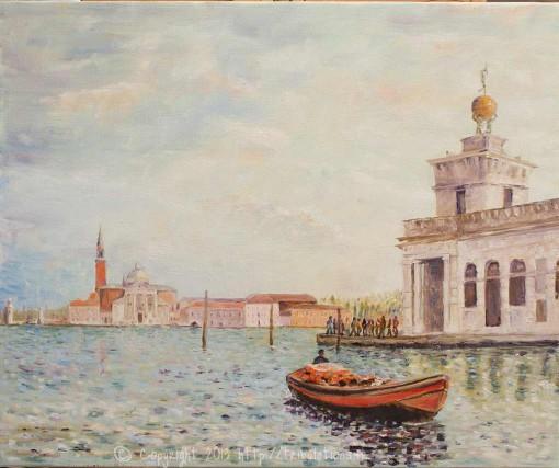 Peinture à huile : Venise le grand canal