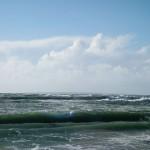 Propagation de la houle du large vers la côte.