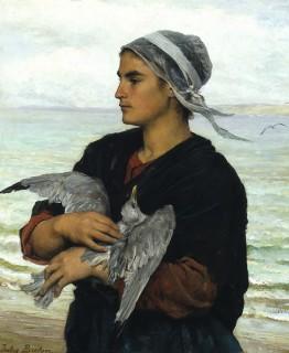 Après la tempête : La mouette blessée de Jules Breton