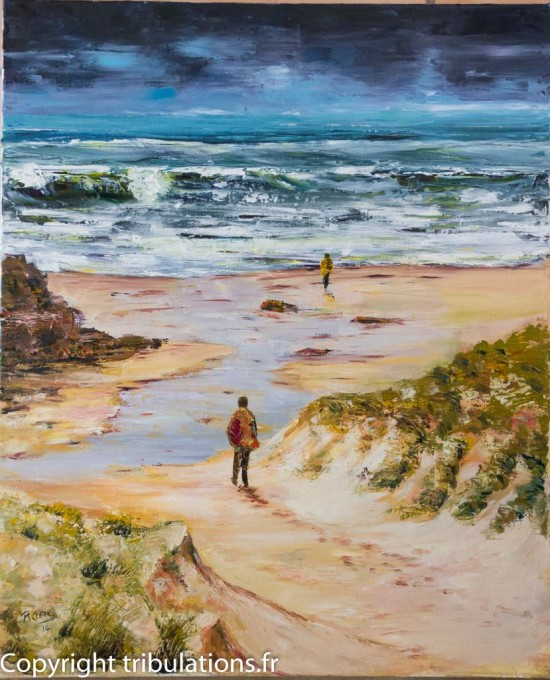 Solitude face à la mer