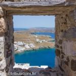 Astypalea : Vue sur le port du château