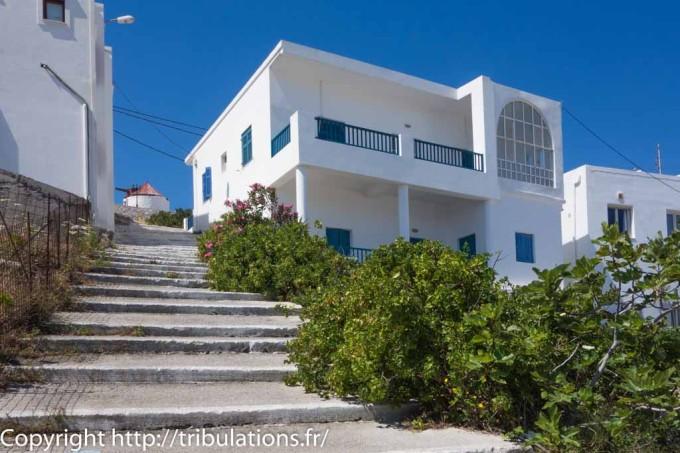 Chora à Astypalea : Les escaliers de la ville
