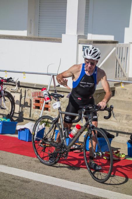 Daniel au départ de l'épreuve à vélo