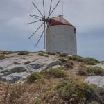 Chora est entouré de moulins à vent