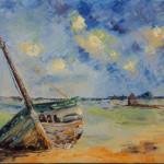 Détails du tableau :Epave au moulin à l'île d'Arz