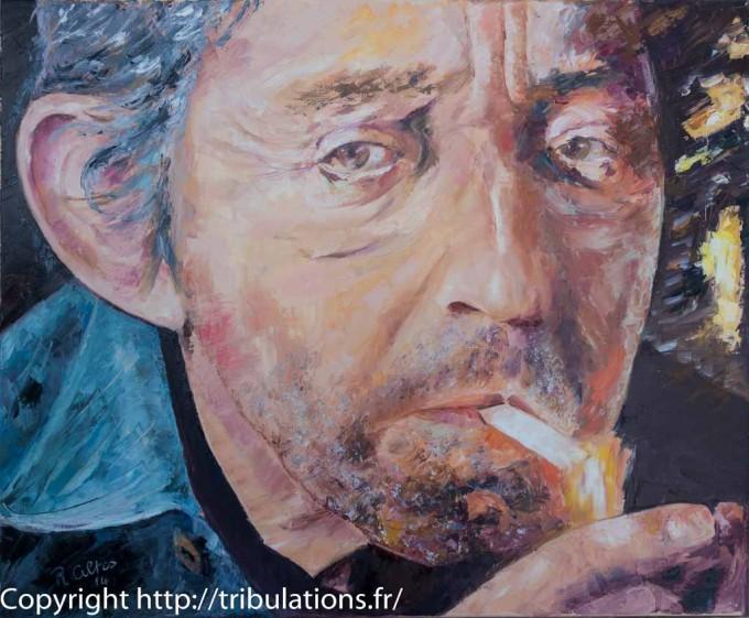 Tableau : peinture de Serge Gainsbourg