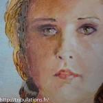 """visage du tableau """"Femme née des vagues"""""""