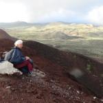 En haut du volcan
