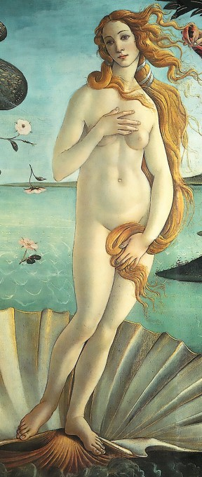 Extrait du tableau La Naissance de Vénus de Botticelli