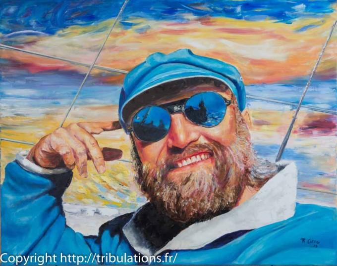 Portrait intitulé Zinzin Huile sur toile - 92x73 cm