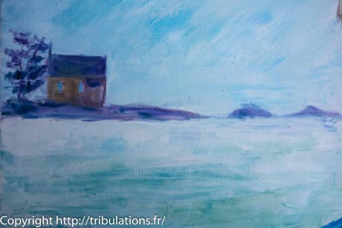 Chapelle à la pointe Ouest de l'île de Boëdic située dans le Golfe du Morbihan