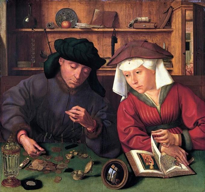 Le Préteur et sa femme de Quentin Metsys, 1514 Musée du Louvre