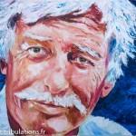 Tableau de Jean Ferrat : peinture au couteau 65x46 cm