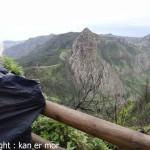 Roque de Agando sous la pluie