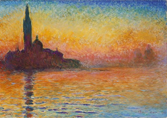 Crépuscule à San-Giorgio de Claude Monet