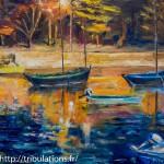 Détail : La lumière du quai embrase l'eau