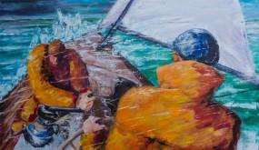 La mer est montée et le voilier continue son abattée !
