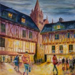 Place Henri IV, Vannes huile sur toile 60x73