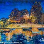 Peinture : Port Anna à l'aube huile sur toile 65x46