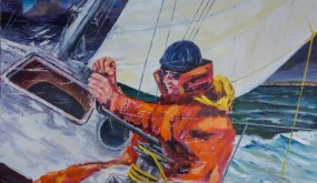 Peinture : Border la voile à la gite