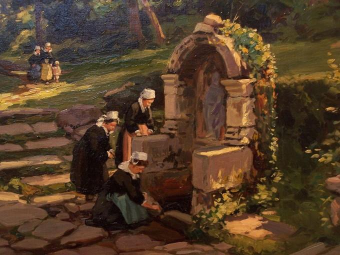 Fontaine Sainte-Barbe d'Henri Barnoin, Musée du Faouët