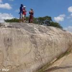 Gravures sur la roche a Inga
