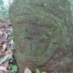 Sculpture rencontrée en forêt