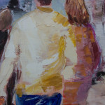 Détail du tableau : les deux personnages du premier plan