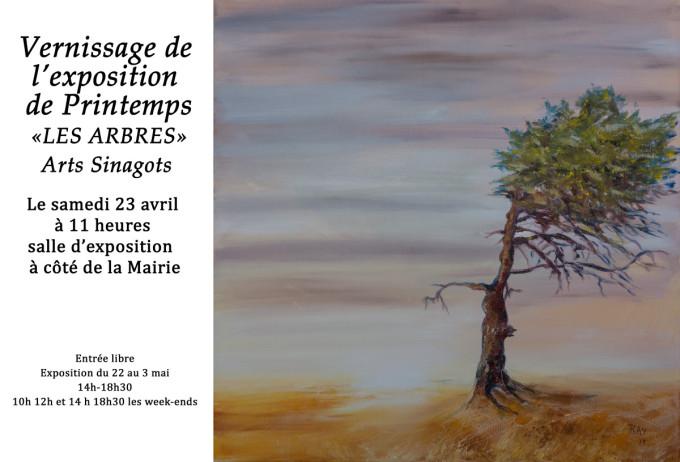Raymond Altès : Invitation exposition Les arbres