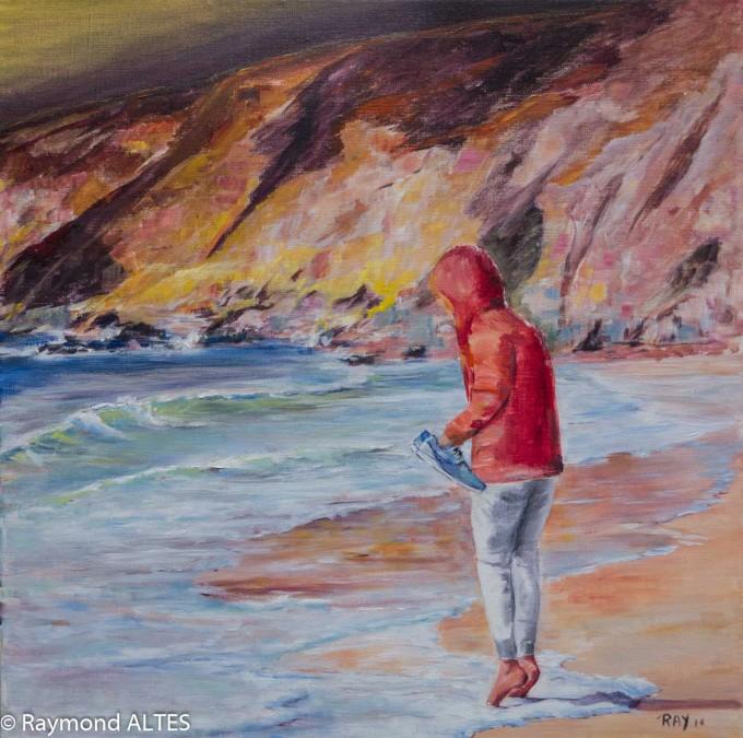 Couleur  : Petits pas dans l'écume Quiberon Tableau de Raymond Altès