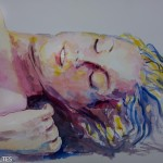 Femme endormie ou l'instant du réveil, tableau de Raymond Altès