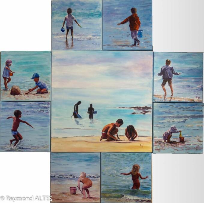 Dans la série des jeux de plage mise en scène de Raymond Altès
