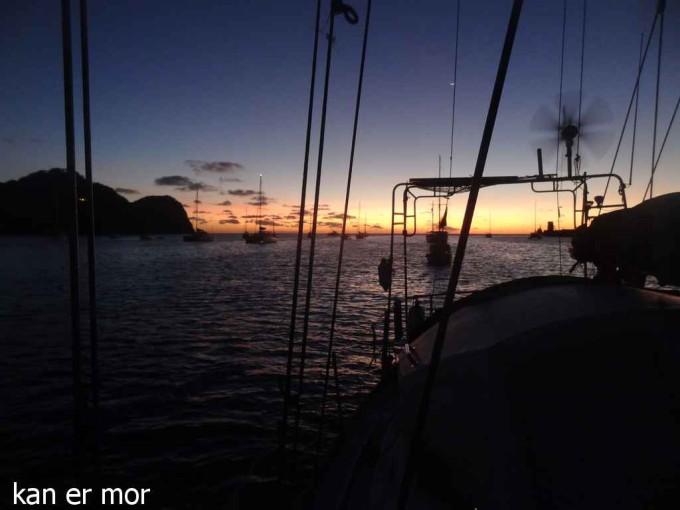 Coucher de soleil sur Tyrrel bay