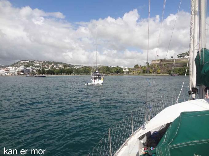 Antilles : Mouillage de Fort de France
