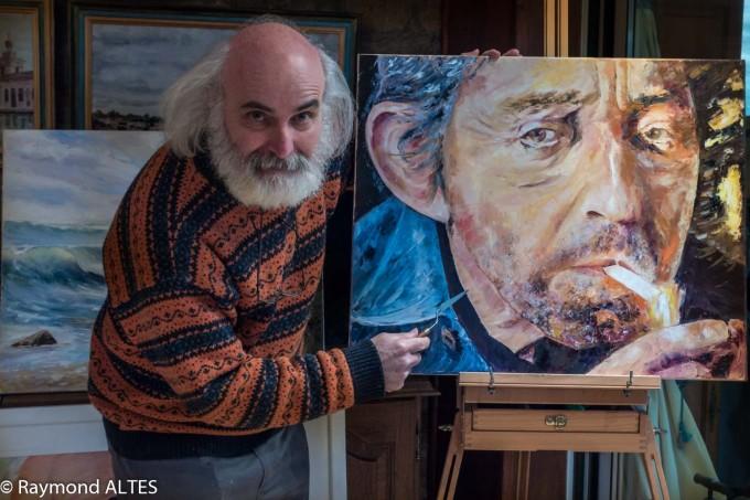 Raymond Altès peinture Serge Gainsbourg