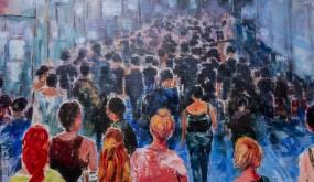 Détail du tableau Le Mystère de la foule