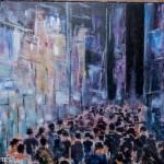 Détail de la peinture Le mystère de la foule
