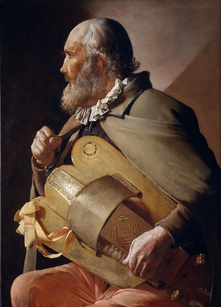 Aveugle jouant de la vielle, Georges De La Tour, Musée du Prado