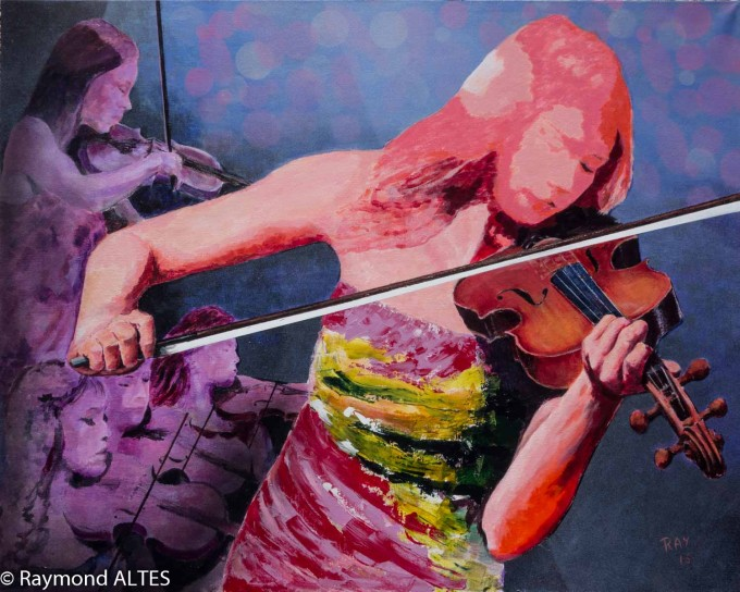 La violoniste par Raymond Altès