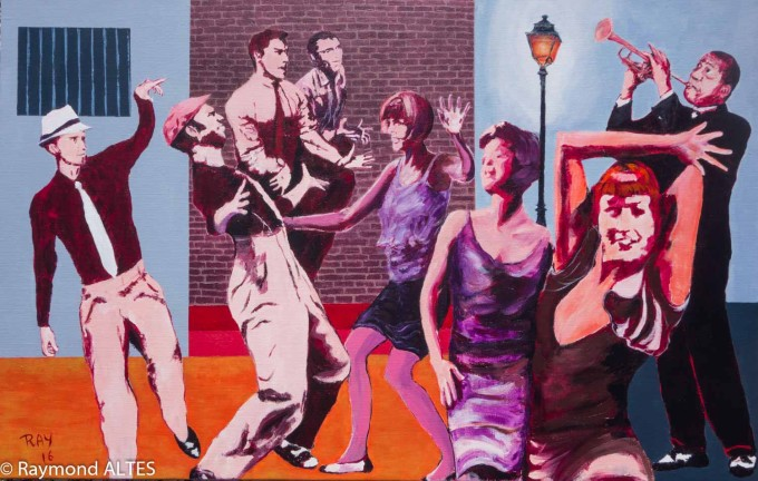 Le Swing Jazz, Peinture de Raymond Altès