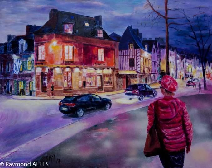 Scènes de rue du Port peinture de Raymond Altès