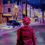 Le personnage du premier plan n'est pas entier. Il regarde une scène de rue !