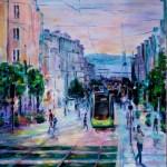 Scène de rue : Brest, rue Siam peinture de Raymond ALTES