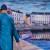 Scènes de rue : Port de Vannes, place Gambetta Peinture de Raymond ALTES