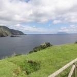 L'île de Corvo au loin