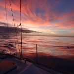 Coucher de soleil départ des Açores