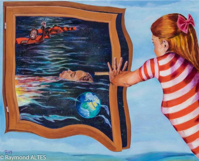 Tableau de Raymond ALTES 100x81 cm - Acrylique - Le désir de vivre